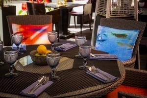 Летняя терраса в ресторане Black Thai