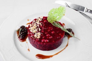 Новый десерт из русского леса в ресторане «Обломов»