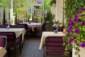 Веранда в ресторане Палаццо Дукале