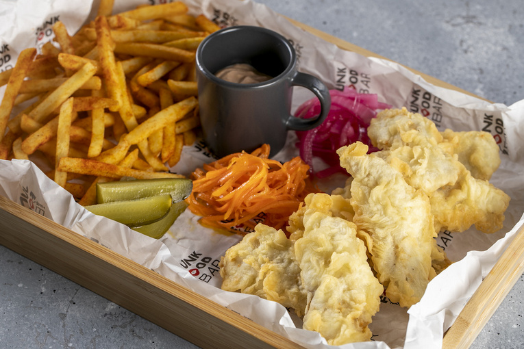 Fish&Chips из мурманской трески, 690р.
