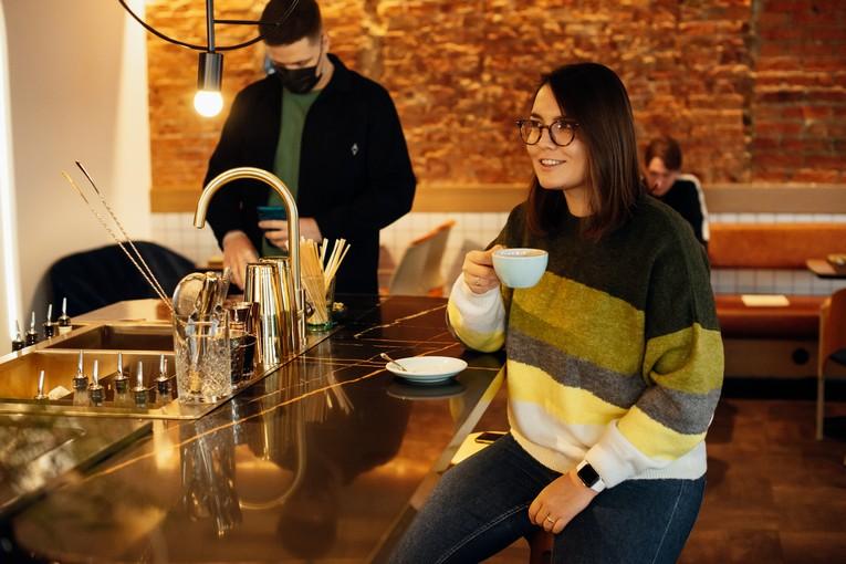 Ника Алексеева, признанный эксперт по кофе, шеф-бариста Riesling Boyz