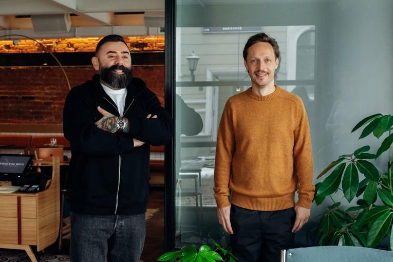 Дмитрий Левицкий со своим партнером Гошей Карпенко (основатели Hurma Group of companies)
