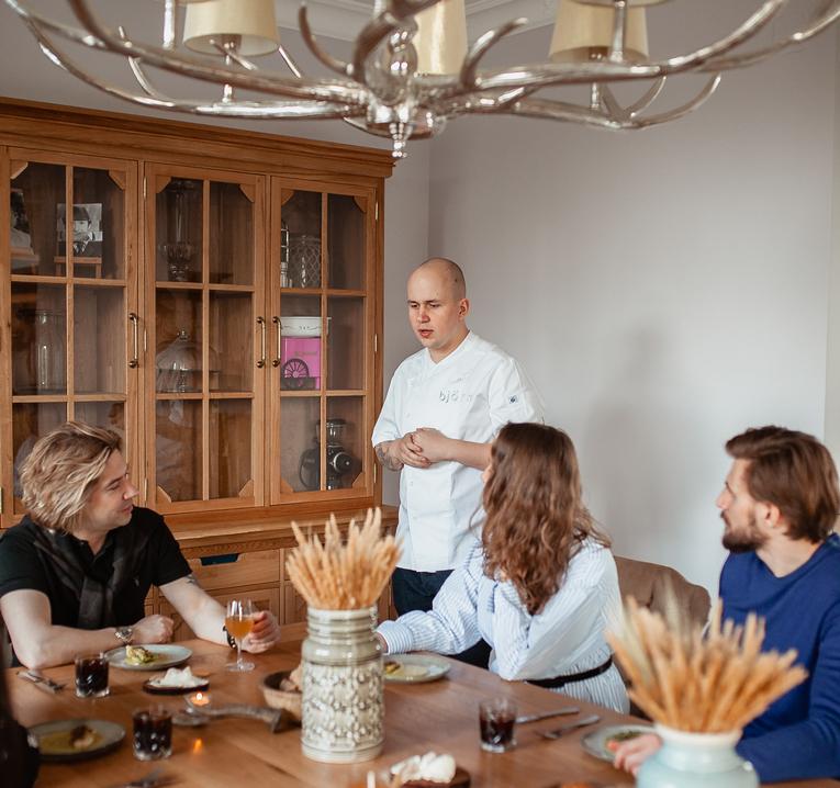 Björn в каждый дом, выездные ужины по предварительному заказу