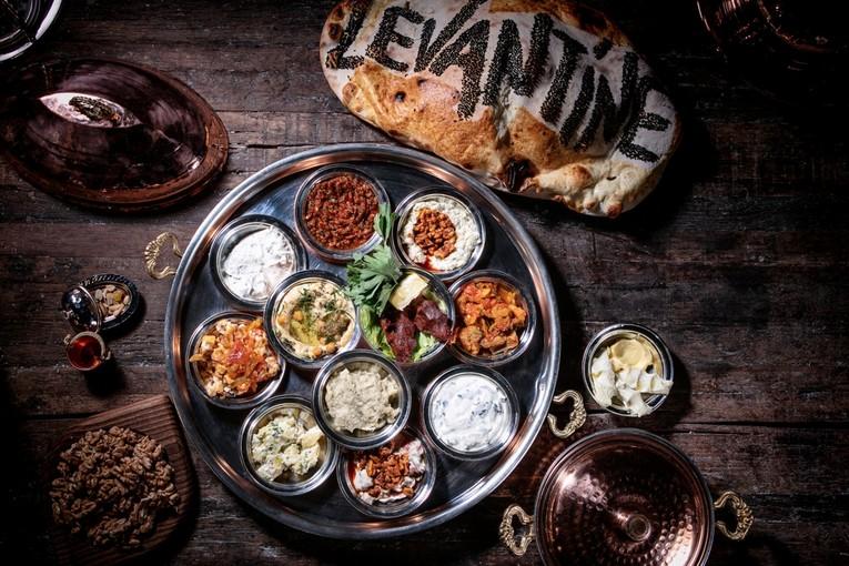 Ресторан Levantine, блюда
