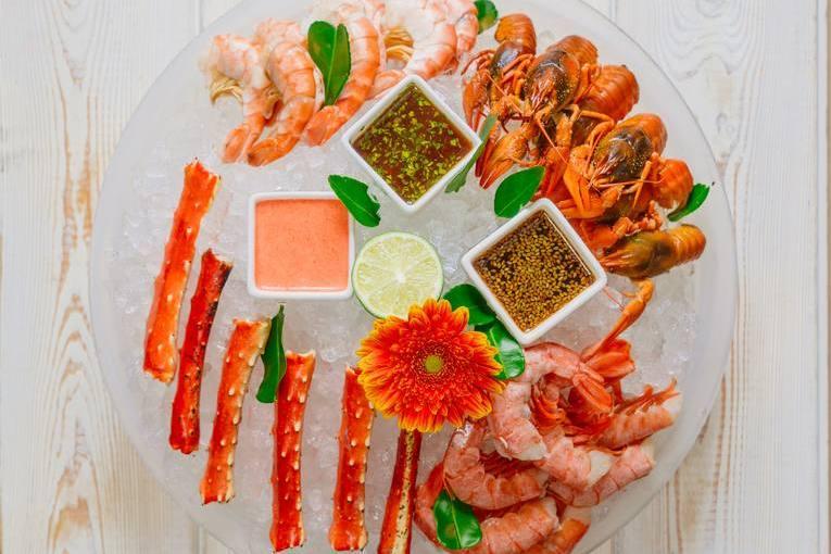 Ресторан «Облака», морепродукты