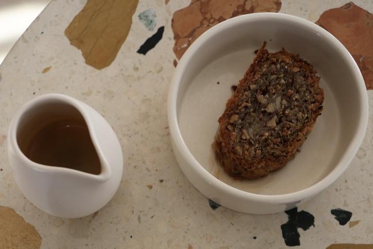 Saragli, horchata ice cream, espresso