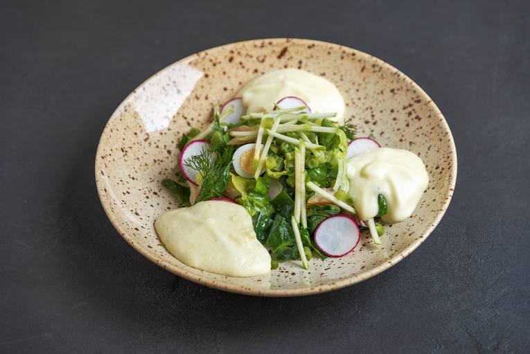 Ресторан «Банщики», салат «Мимоза»