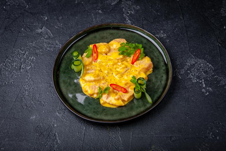 Севиче из лосося с манго и чили перцем (530р.)
