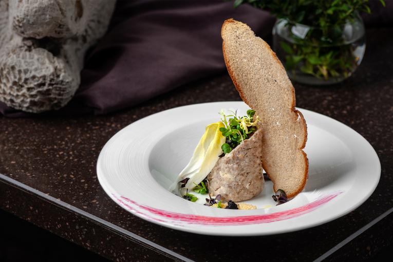 Форшмак из нежного филе дунайки, ресторан «Бабель»