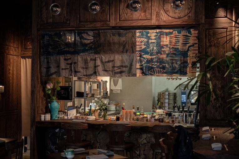 Ресторан Lotus Room, интерьер