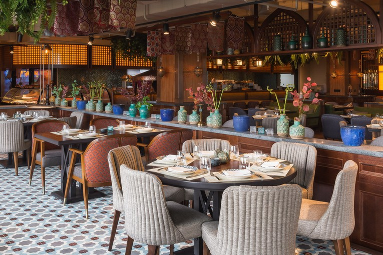Ресторан Levantine, интерьер