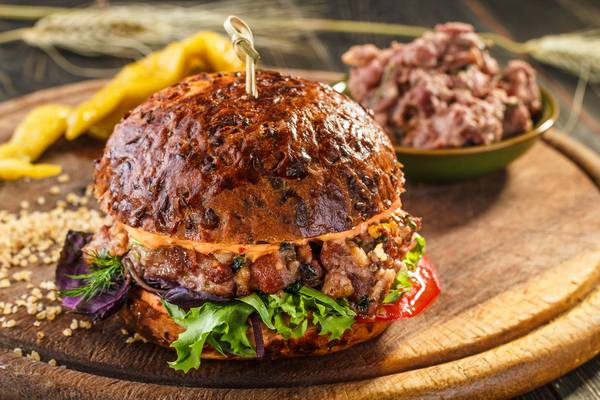 Вегетарианский бургер в Gayanes
