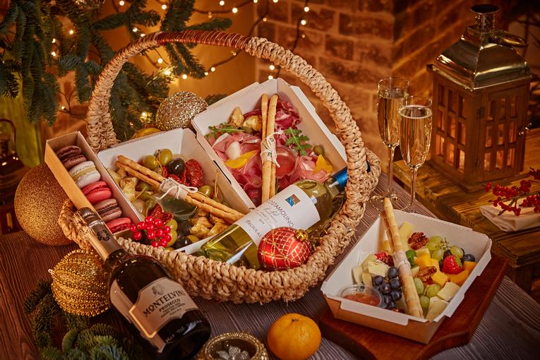 Корзины для рождественского стола от Villa Pasta