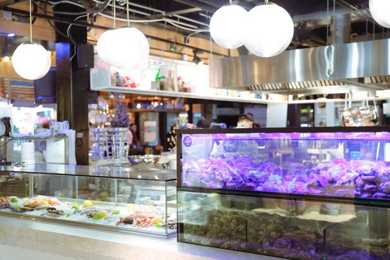 SeaFood Bar, интерьер